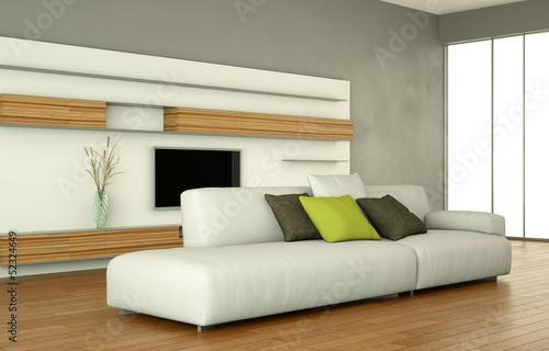Wohndesign - weißes Sofa