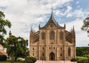 Cathedral of st. Barbara in city Kutna Hora