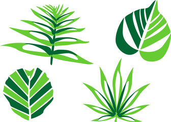 stylized leaves