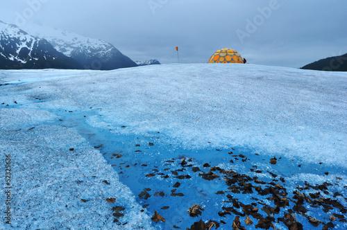 Camp on Mendenhall Glacier Juneau Alaska