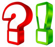 Question & Answer Icon 3D Red/Green