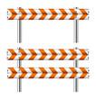 Orange and white construction barricade