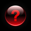 Red glossy question mark sign