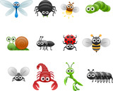 cartoon insect set
