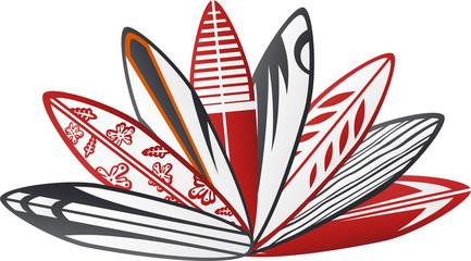 colorful surf board design 2