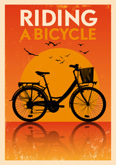 Vintage Bicycle Poster
