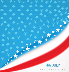 American Flag 4th july american independence day wave design vec