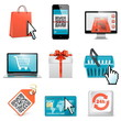 Vector e-shopping icons
