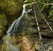 Waterfall in Slovakia spring - Slovensky raj