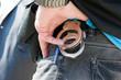 Handcuffs on belt