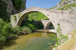 Old stone bridge of Noutsos (built 1750 AD), Epirus, Greece