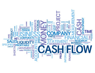 """""""CASH FLOW"""" Tag Cloud (money markets finance business liquidity)"""