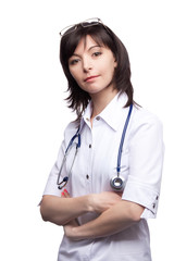 Doctor woman with a stethoscope
