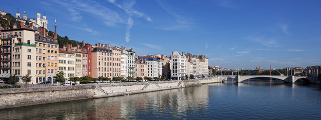Panoramic view of Lyon