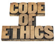 code of ethics in wood type
