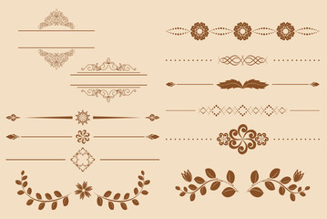 set of vector vintage delimiters