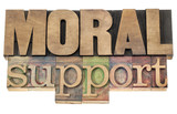 moral support in wood type poster
