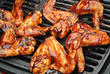Barbequing Chicken Wings