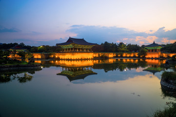 Anapji Pond in Gyeongju, South Korea