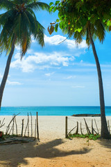 Unspoiled idyllic beach
