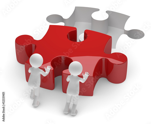 Teamwork rotes puzzle