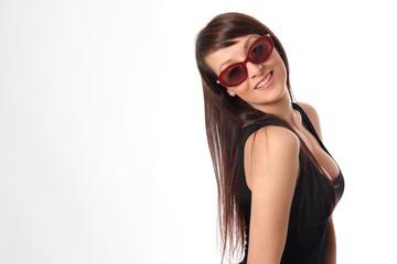 occhiali da sole rossi