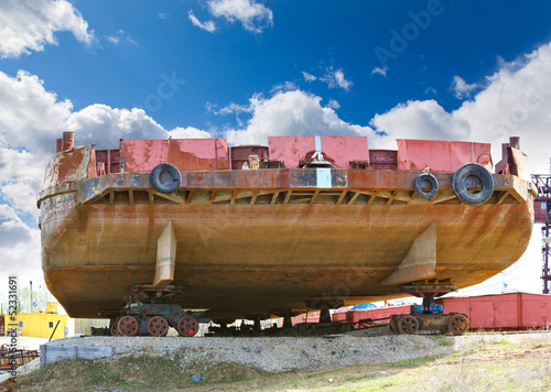 ships in the shipyard