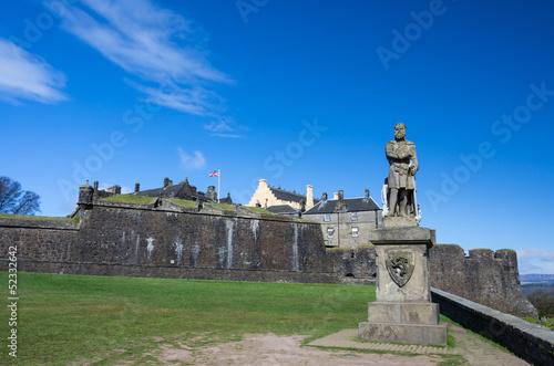 Zdjęcia na płótnie, fototapety, obrazy : Robert the Bruce statue in front of Stirling Castle