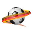Fußball - Ball mit deutschen Nationalfarben