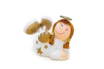 Ceramic angel figurine