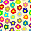 Seamless background. Colored daisies