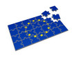 Flag of EU made of puzzles.