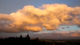 Clouds over Happy Valley Oregon Panning View at Sunset