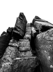 black and white rock