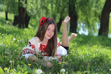 girl in the national Ukrainian costume