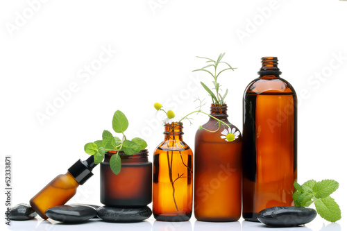 Spa scene with natural cosmetics - 52333871