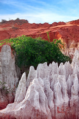 Rock pinnacles at the Fairy stream, Mui Ne, Vietnam