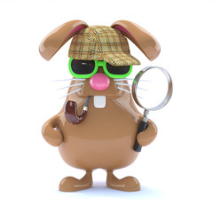 Chocolate bunny detects a crime