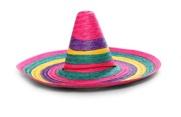 A colorful mexican sombrero.
