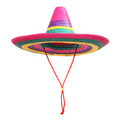 A colorful mexican sombrero with space for your funny face.