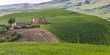 Ruine im Hügelland, Sizilien