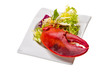 Lobster leg with salad