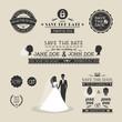 Set of wedding typography