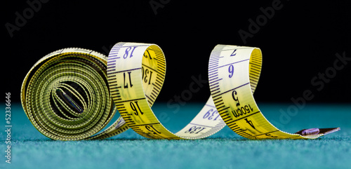 measure tape  isolated on black