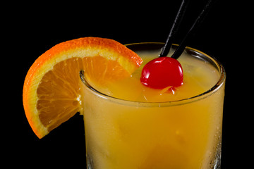 whiskey sour on the rocks