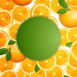 Vector Illustration of a Background with Orange Fruits