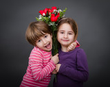 children red roses for a friendship