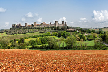 The medieval Village of Monteriggioni
