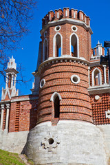 The castle tower of red brick