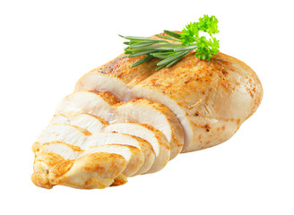 Chicken breast with garlic rub